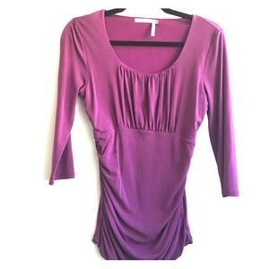 Classiques Entier Silk Top Small Purple Ruched
